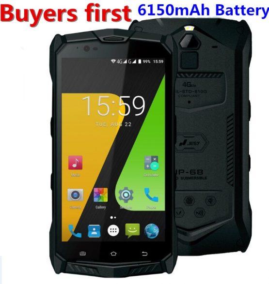 "JESY J9S IP68 Waterproof android 7.0 MTK6755 Octa Core 4G LTE mobile phone 4GB RAM 64GB ROM 5.5"" NFC OTG PTT 6150mAh Smartphone"