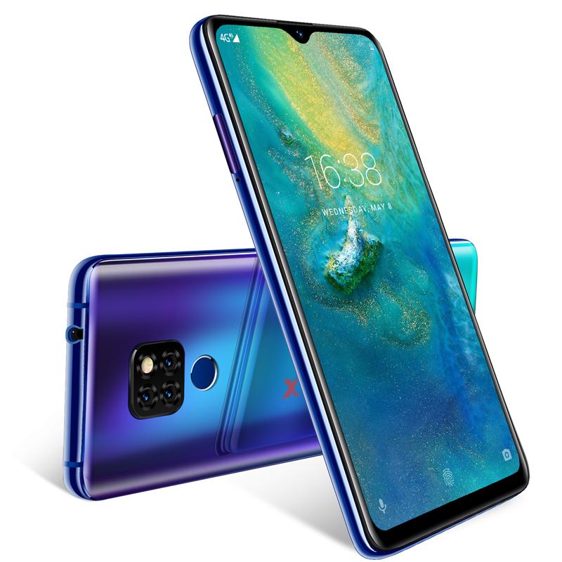 "XGODY Dual 4G Sim Mobile Phone Android 9.0 6.26"" 19:9 Smartphone 2GB 16GB MTK6737 Quad Core 13.0MP Fingerprint Mate 20 Cellphone"