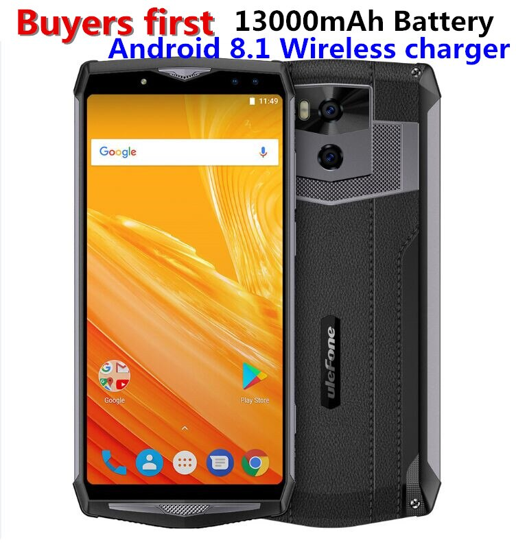 """ulefone power 5 6.0""""FHD 4G Smartphone MTK6763 Octa Core Android 8.1 6GB+64GB 21MP 13000mAh Wireless charger Face ID mobile phone"""