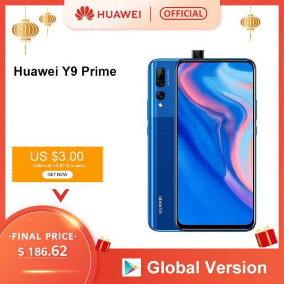 """Global Version Huawei Y9 Prime 2019 Smartphone AI Triple Rear Cameras Auto Pop Up Front Camera 6.59"""" 4GB 128GB cellphone"""