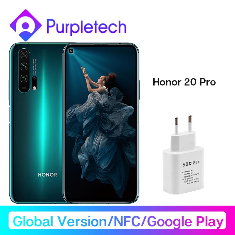 Global Version Honor 20 Pro Smartphone Kirin 980 Octa Core 7nm 6.26'' 8G 256G 48MP Four Camera Moblie Phone Google Play NFC