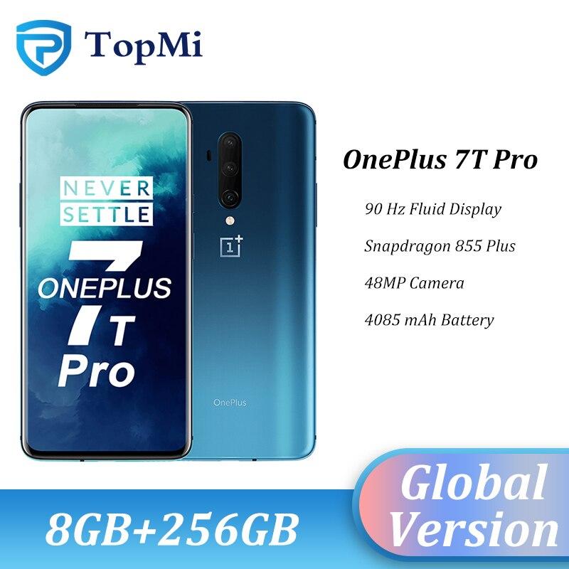 "In Stock Global Version OnePlus 7T Pro Smartphone 8GB RAM 256GB ROM Snapdragon 855 Plus 6.67"" Fluid AMOLED 90Hz Screen 48MP Cam"