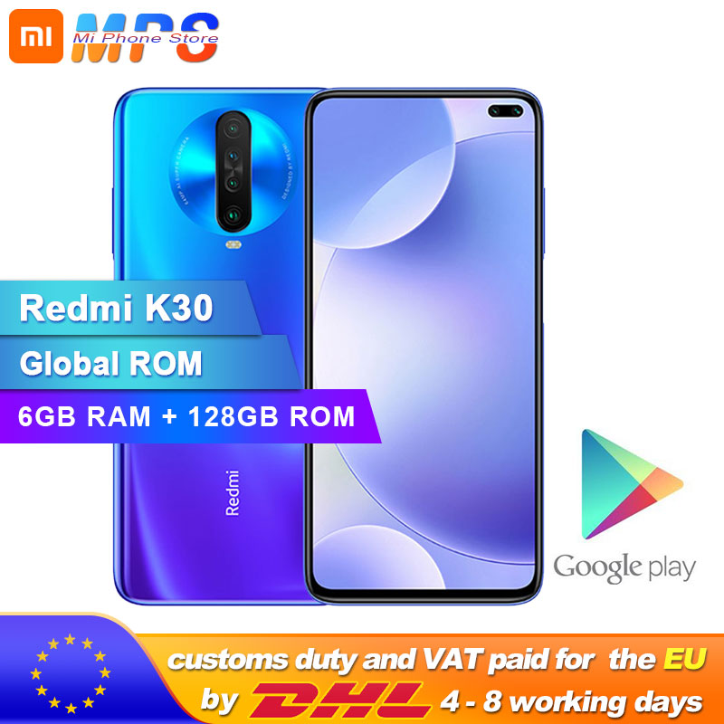 Global ROM Original Xiaomi Redmi K30 6GB 128GB 4G Smartphone Snapdragon 730G Octa Core 64MP Camera 120HZ Fluid Display 4500mAh