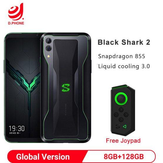 "Original Global Version Xiaomi Black Shark 2 8GB 128GB Gaming Smartphone Snapdragon 855 6.39"" 48MP Full Screen BlackShark"