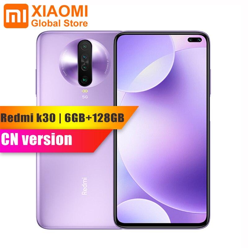 Original Xiaomi Redmi K30 5G 6GB RAM 128GB ROM Smartphone Snapdragon 765G Octa Core 64MP Quad Camera HDR 10 Display 4500mAh