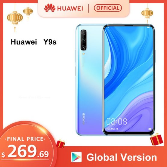 "World Premiere Global Version Huawei Y9s 6GB 128GB Smartphone 48MP AI Triple Cameras Auto-Pop Up Front Camera 6.59"" cellphone"