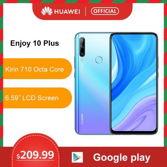 Original Huawei Enjoy 10 Plus Smartphone 128G Auto Pop Up Front Camera 48MP AI Camera 6.59'' Cellphone Kirin 710F 4000mAh