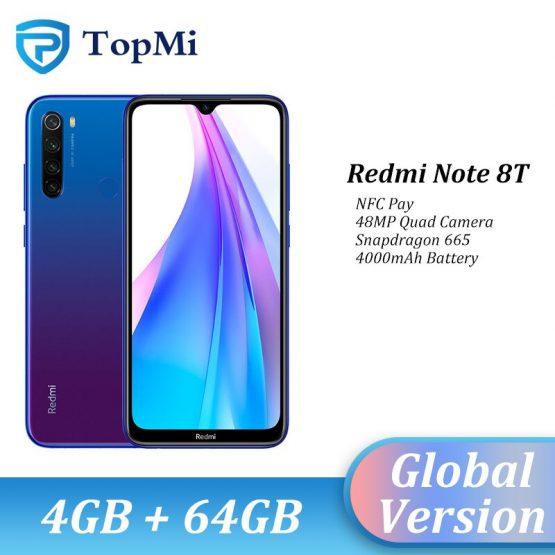 "In stock!Global Version Xiaomi Redmi Note 8T 4GB RAM 64GB ROM Smartphone 48MP Quad Camera NFC Snapdragon 665 6.3"" FHD+ Cellphone"