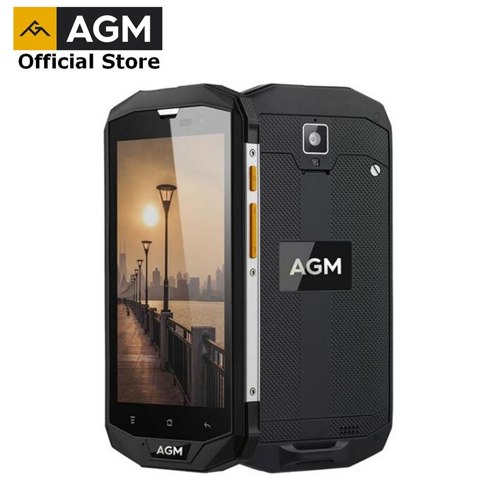"""OFFICIAL AGM A8 SE 5"""" 2G+16G IP68 Rugged Phone Quad Core 4050mAh 8MP+2MP NEW Smartphone Qualcomm MSM8916 Mobile phone"""