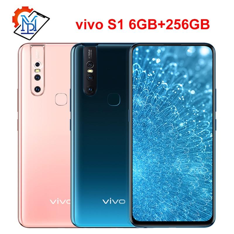 Original Vivo S1 Mobile Phone 6.53inch Screen 6GB RAM 256GB ROM Helio P70 Octa Core Android 8.1 Three Cameras 3940mAh Smartphone