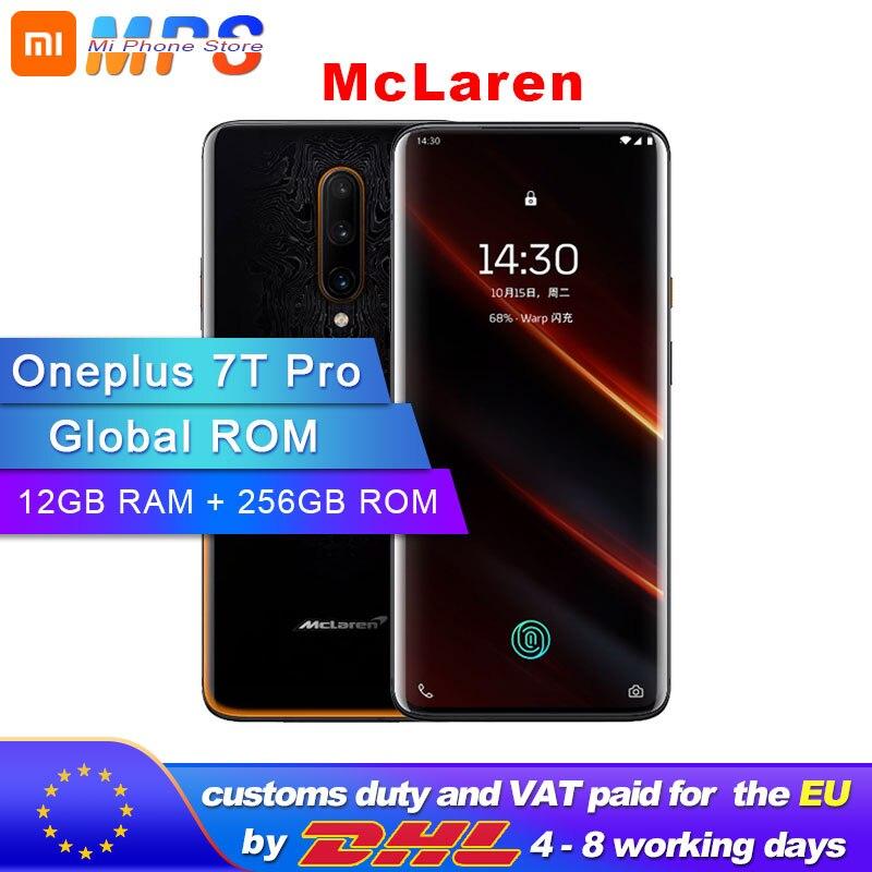 Global ROM Original New Oneplus 7T Pro Mclaren Smartphone 12GB RAM 256GB ROM Snapdragon 855 Plus 6.67'' 90Hz Screen Android 10