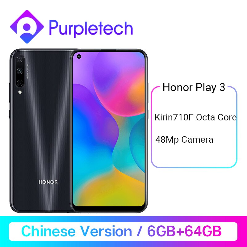 "Honor Play 3 6GB 64GB Kirin 710 F Octa Core Smartphone 48MP AI Triple Cameras 6.39"" Android P Cellphone"