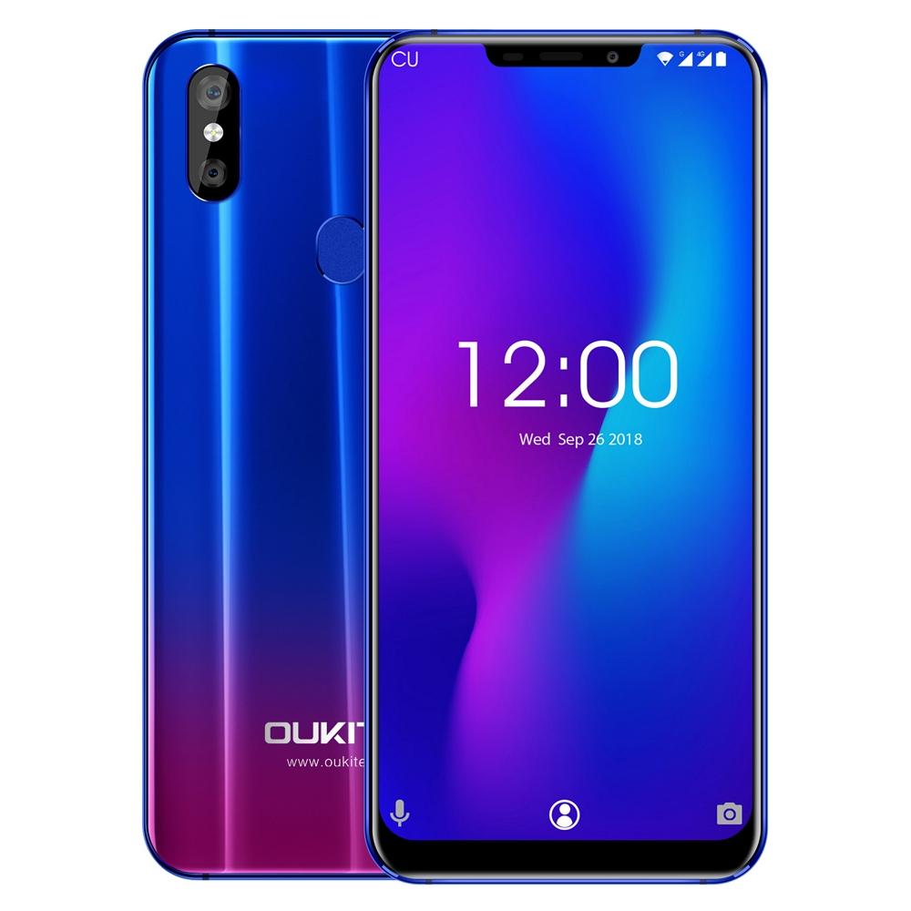 OUKITEL U23 4G Smartphone 6.18 inch Android 8.1 MTK 6763T Octa Core 2.0GHz 6GB RAM 64GB ROM 16.0MP + 2.0MP 3500mAh Mobile Phone
