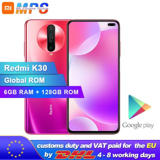 New Original Xiaomi Redmi K30 6GB 128GB 4G Smartphone Snapdragon 730G Octa Core 64MP Camera 120HZ Fluid Display 4500mAh