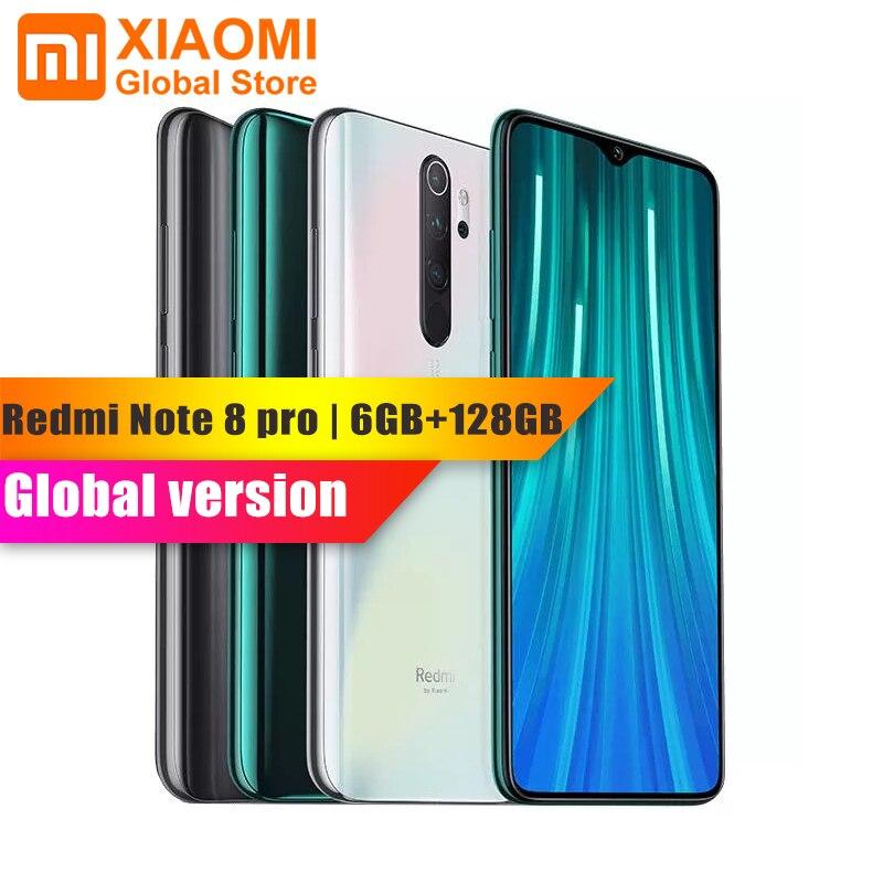 Global Version Xiaomi Note 8 Pro 6GB RAM 128GB ROM Smartphone NFC Helio G90T Quick Charging 4500mAh 64MP Cam Smart Mobile Phone