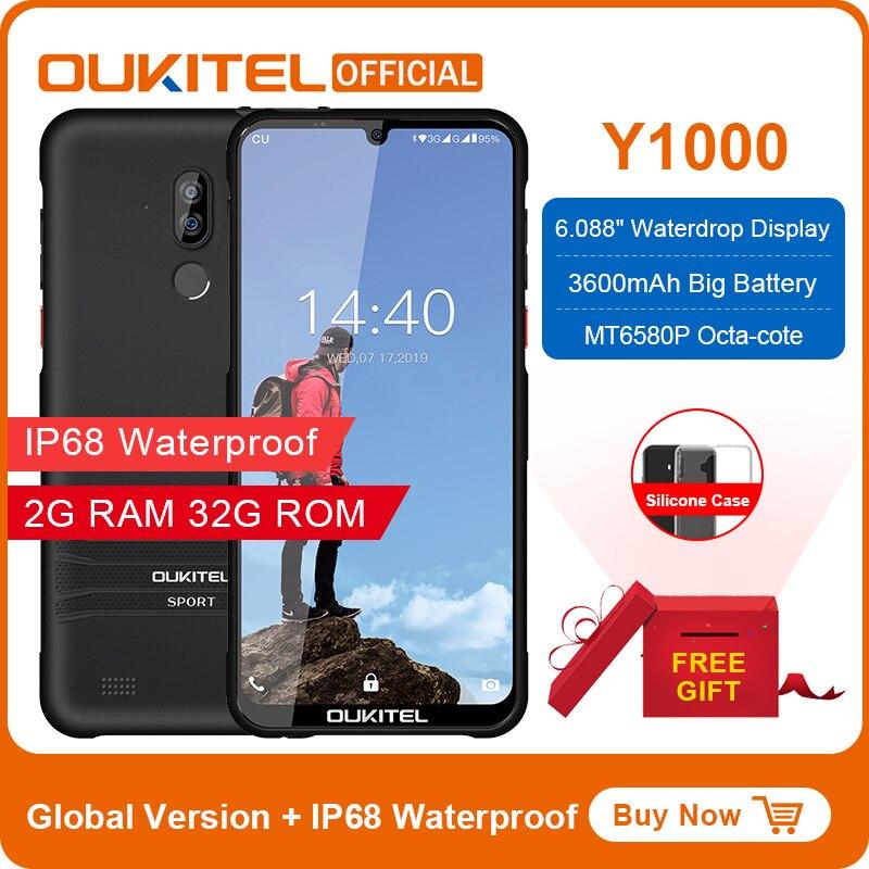 "OUKITEL Y1000 Android 9.0 Mobile Phone 6.08"" 19.5:9 MT6580P 2G RAM 32G ROM 3600mAh Fingerprint Smartphone"