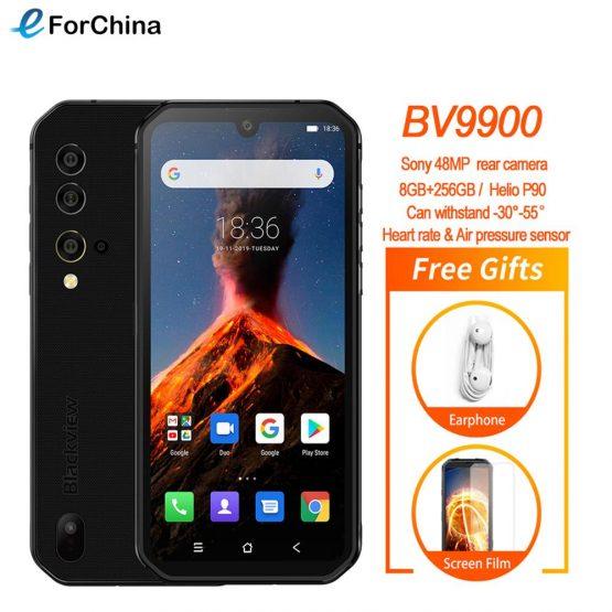 Blackview BV9900 Helio P90 Octa Core 8GB 256GB 5.84'' FHD+ IP68 Waterproof Rugged Smartphone 48MP Quad Rear Camera Mobile Phone