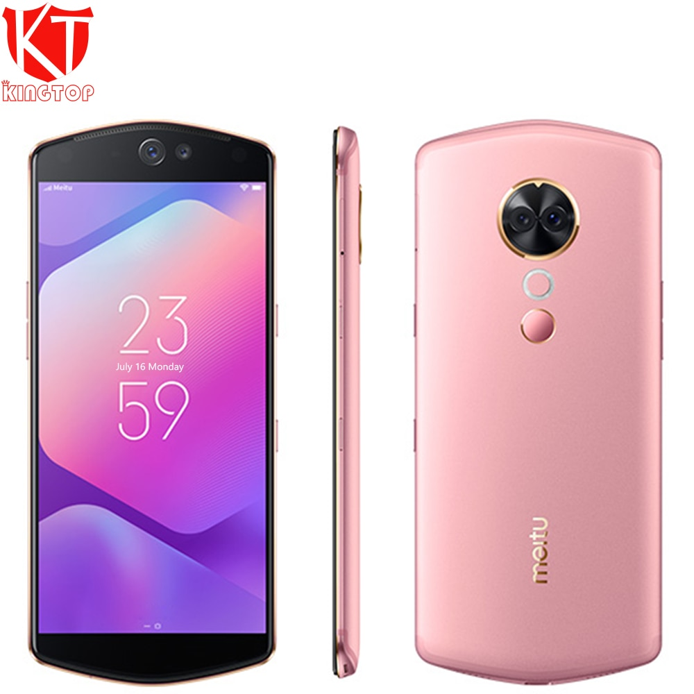 Original Meitu T9 Mobile Phone 4/6GB RAM 64/128GB ROM Snapdragon 660 Octa Core Android 8.1 Dual Front/Rear Camera Smartphone