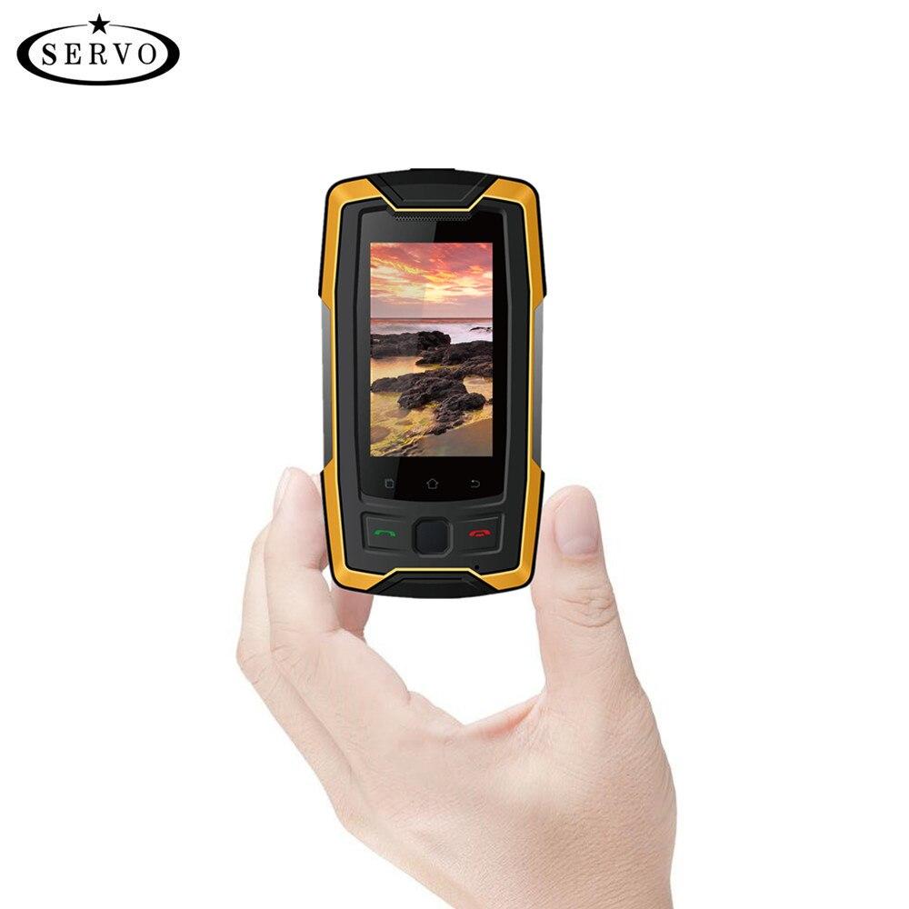 "SERVO X7 Plus 2.45"" MTK6737 mini Smartphone 4G IP68 Waterproof RAM 2GB ROM 16GB Fingerprint NFC GPS Mobile Phone Walkie"