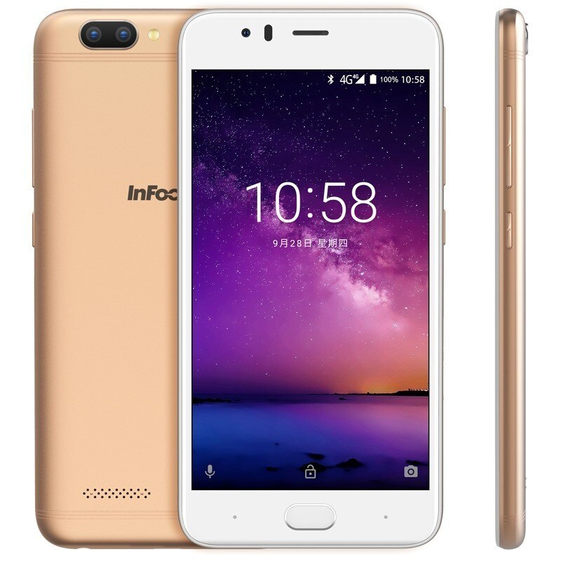 "Infocus A3 mobile phone 5.2"" LTE 4G smartphone 2GB +16GB 3050mAh Quad core phones fingerprint Dual came Android 7.0 cell phones"