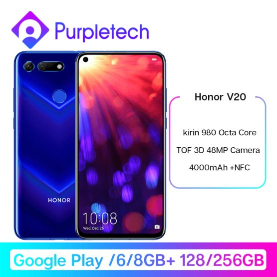 Honor V20 View 20 Smartphone Google Play Android 9.0 kirin 980 Octa Core FingerPrint ID 6.4 inch 3*Cameras 4000 mAh Cell Phone