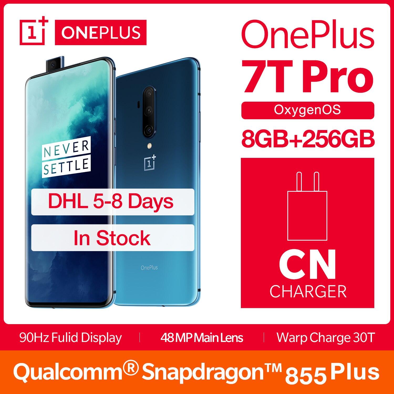 "Global ROM OnePlus 7T Pro 8GB 256GB Smartphone Snapdragon 855 Plus 6.67"" Fulid 90Hz Display NFC UFS 3.0 4085mAh Dash Charge 30T"