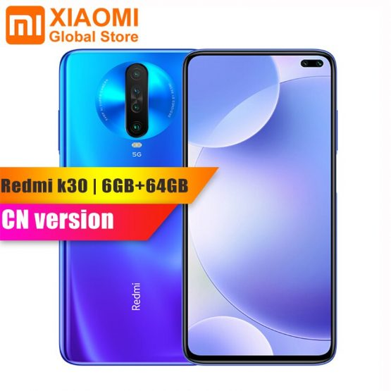 Original Xiaomi Redmi K30 5G 6GB RAM 64GB ROM Smartphone Snapdragon 765G Octa Core 64MP Quad Camera HDR 10 Display Fast Charging