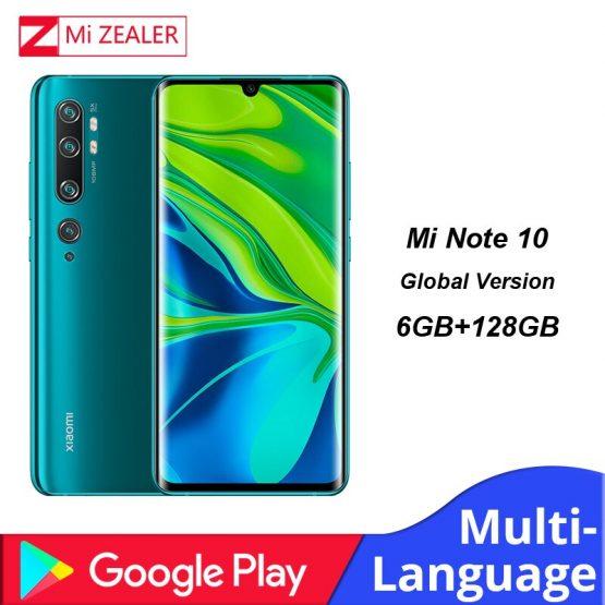 Global Version Xiaomi Mi Note 10 Smartphone 6GB RAM+128GB ROM 108MP Penta Camera 5260 mAh battery Snapdragon730G cellphone
