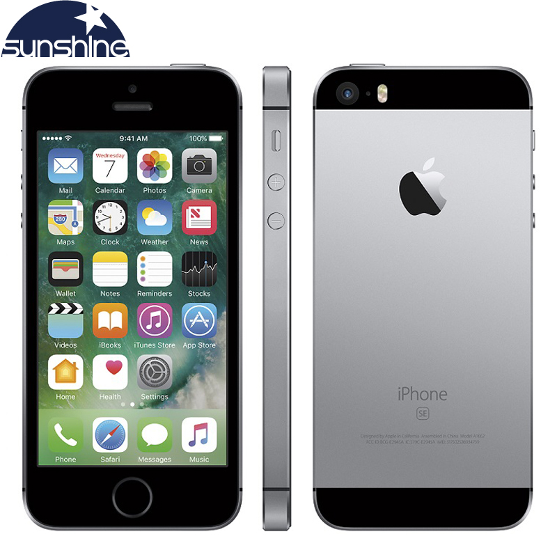 "Unlocked Original Apple iPhone SE 4G LTE Mobile Phone iOS A9 Dual Core 2G RAM 16/64GB ROM 4.0""12.0MP Fingerprint Smartphone"