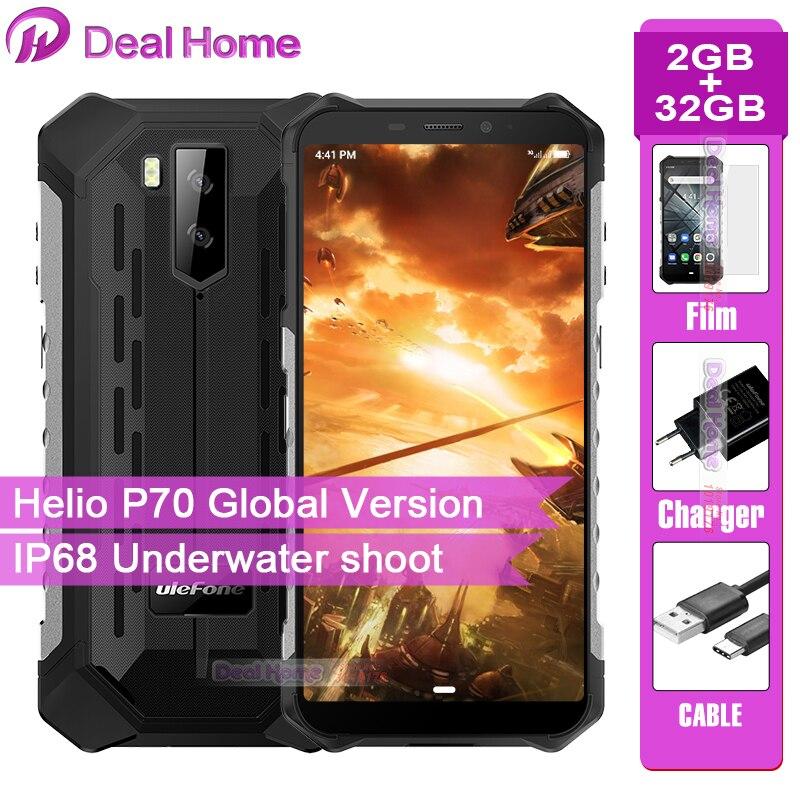 "Ulefone Armor X3 Rugged IP68 Smartphone Android 9.0 5.5"" Screen 2GB 32GB 5000mAh 3G Rugged Mobile Phone"