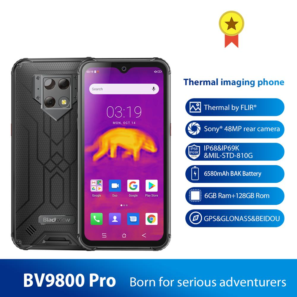Blackview BV9800 Pro Waterproof Global First Thermal imaging smartphone 6GB+128GB MT6771 Octa Core 48MP Android 9.0 NFC 6580mAh