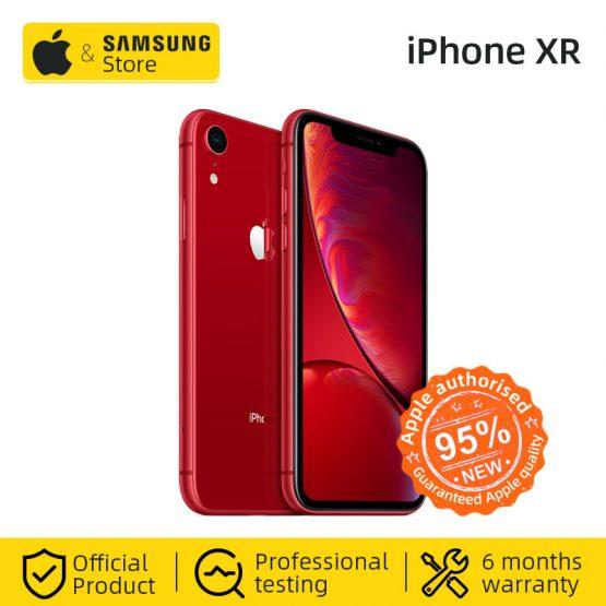 "Original Unlocked Apple iPhone XR Smartphone 4G LTE 6.1"" Hexa-core 12MP&7MP 64GB/128GB ROM IOS 4G Lte Apple Mobile phone IP67"