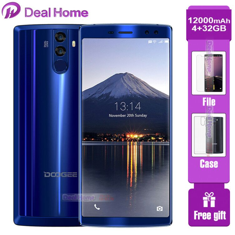DOOGEE BL12000 SmartPhone MTK6750T Octa Core 4GB+32GB Android 7.1 Cellphone 6.0inch 18:9 Touch Screen Dual Camera Mobile Phone