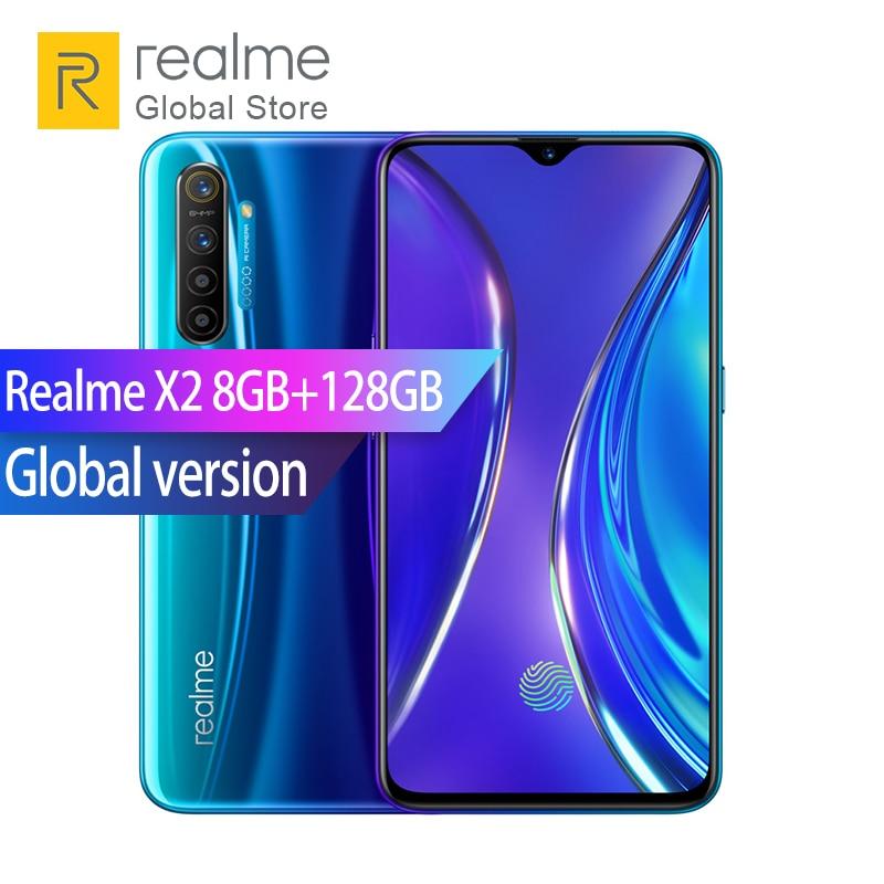 "Global version realme X2 8GB RAM 128GB ROM Snapdragon 730G Octa Core 6.4"" 64MP Rear Camera NFC Smartphone 30W VOOC Flash Charger"
