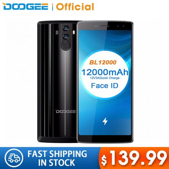 DOOGEE BL12000 Smartphone 12000mAh Fast charge 6.0''18:9 FHD+ MTK6750T Octa Core 4GB RAM 32GB ROM Quad Camera 16.0MP Android 7.1