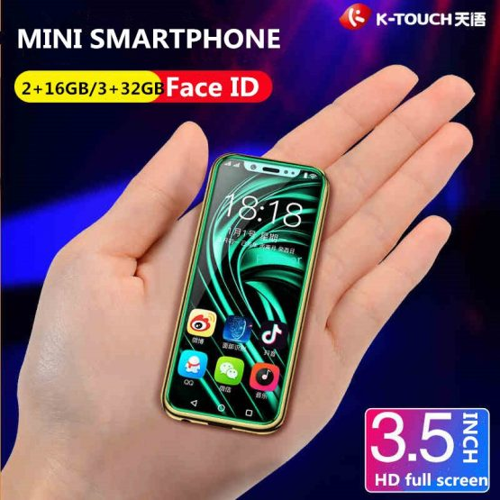 Support Google Play Super Mini 4G SmartPhone K-TOUCH I9 Face ID Metal Frame Android 6.0 Telefone Dual SIM Mobile Phone