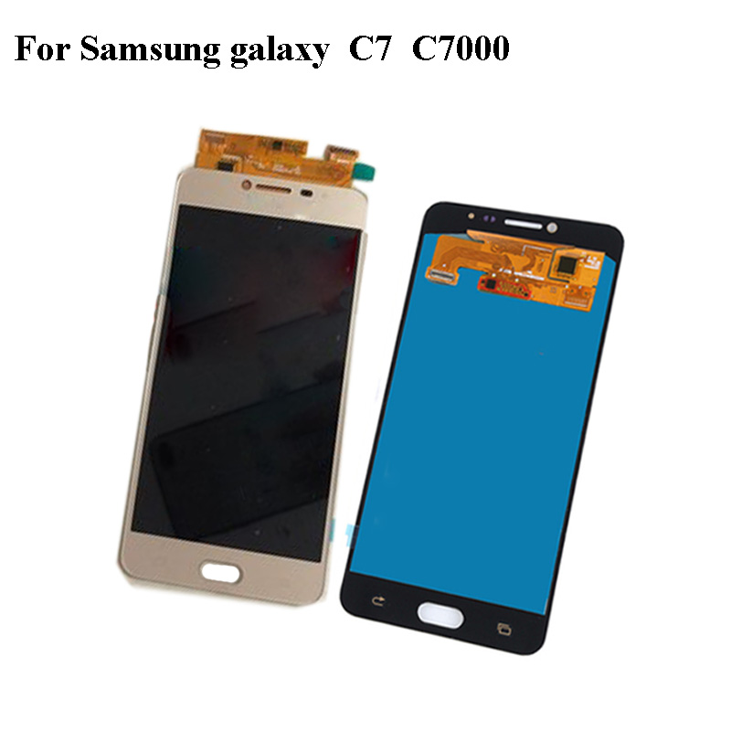 Black LCD+TP For Samsung galaxy C7 C 7000 LCD Display with Touch Screen Digitizer Smartphone Replacement C 7 C7000 Without frame