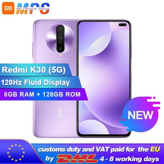 """Original Xiaomi Redmi K30 5G 128GB 6GB Snapdragon 765G Octa Core Smartphone 6.67"""" 64MP Quad Rear Camera 4500mAh"""