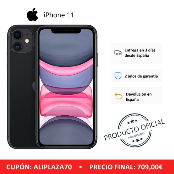 "Apple iPhone 11 Smartphone (64 GB ROM, 4 GB RAM, Black Color, 12 MP Rear Camera, 12 MP Selfie Camera, 6.1 ""Screen, iOS System, New, Free, Cheap) [Mobile Phone EU Version] Plaza España, Mobile, Mobile, Mobile Phone Free"