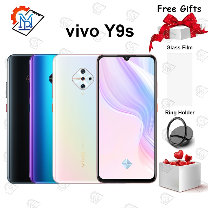 Original vivo Y9s Mobile Phone 6.38 inch Super AMOLED Screen 8G+128G Snapdragon 665 Octa-core Four Cameras 4500mAh Smartphone