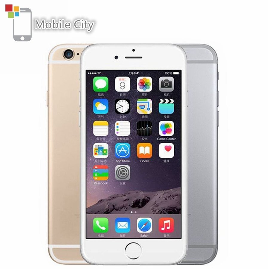 "Original Apple iPhone 6 IOS Smartphone Dual Core 4.7"" 1GB RAM 16/64/128GB ROM 8.0MP Fingerprint 4G LTE Unlocked Mobile Phone"