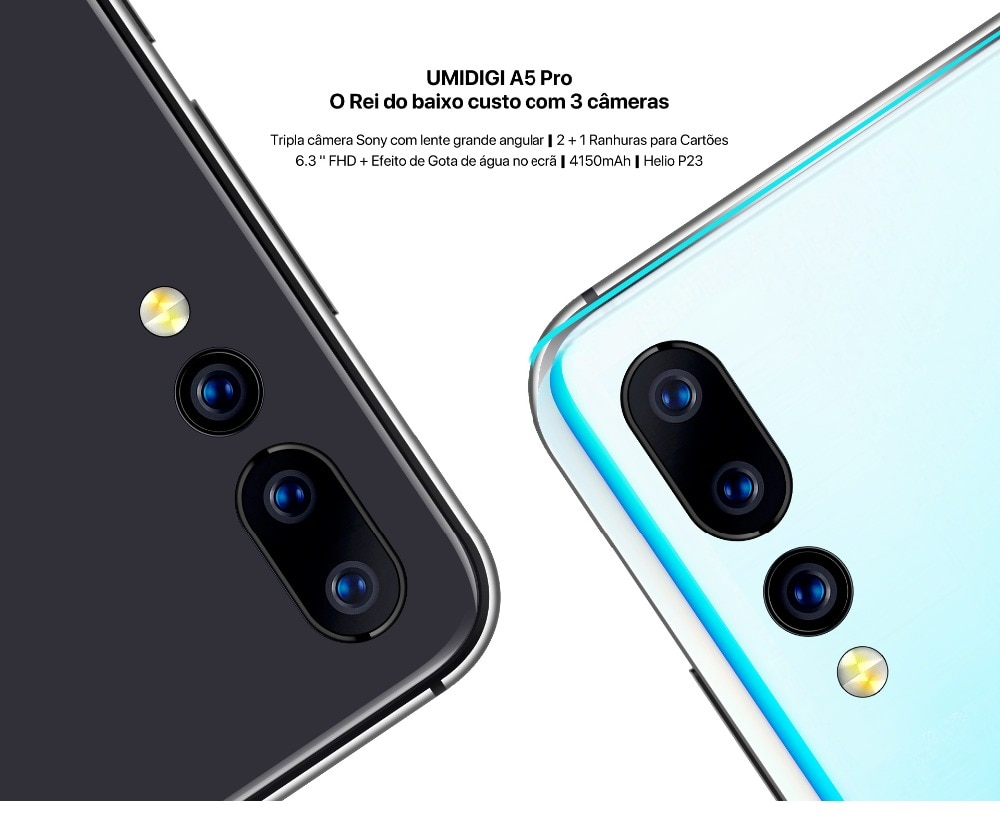 Global version umidigi A5 Pro Android 9.0 octa core 6.3 ffhd + waterdrop 16MP triple camera 4150 MAH 4 GB ram 4G smartphone cel