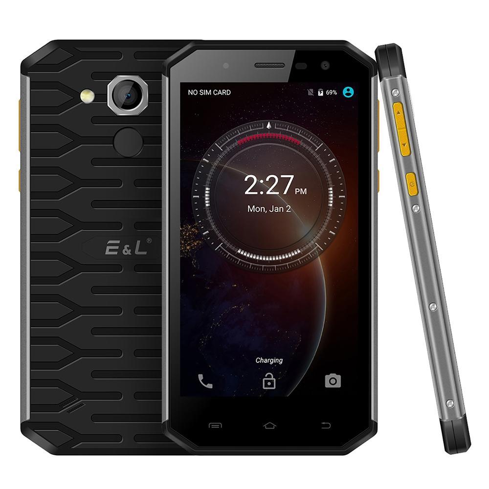 "KXD E&L S50 IP68 Rugged Phone Android 6.0 MTK6753 Octa Core 3GB RAM 32GB ROM 5.0"" Display 13MP FM 4G LTE Smartphone Fingerprint"