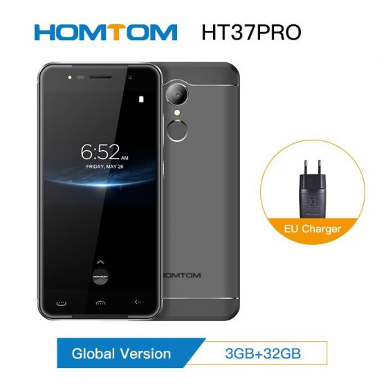 Original HOMTOM HT37 Pro 3+32GB Smartphone 4G MT6737 5.0 Inch HD Android 7.0 Cell Phone13MP 3000mAh Fingerprint ID Mobile Phone
