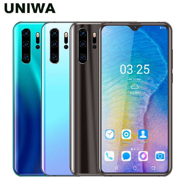 UNIWA P30 PRO Smartphone Quad Core 2GB RAM 32GB ROM 6.26 inch Waterdrop Screen Android 6.0 Mobile Phone Dual Nano SIM 3000mAh