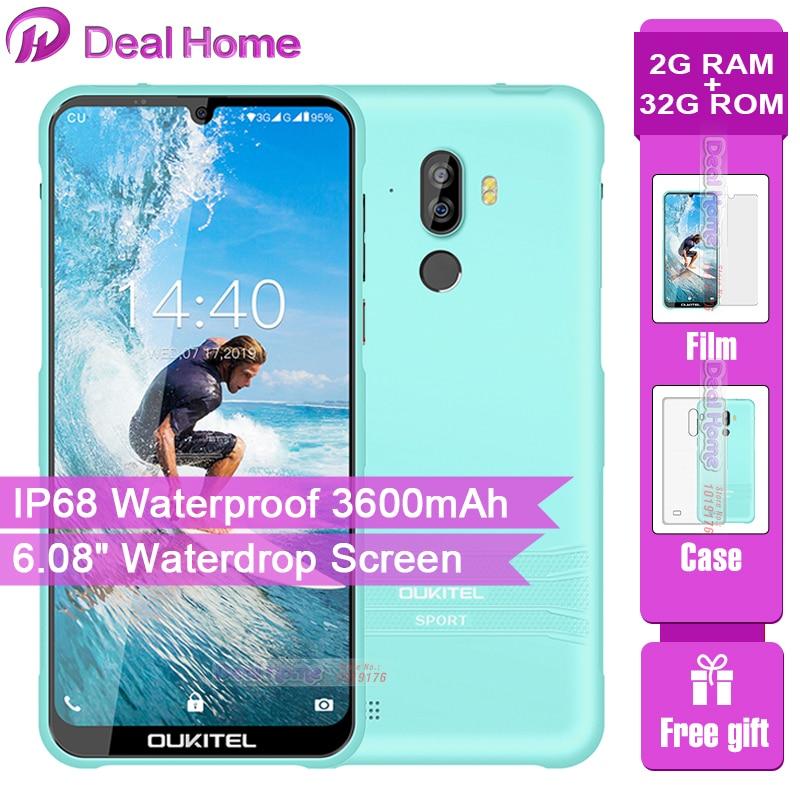 "OUKITEL Y1000 6.08"" 19.5:9 Android 9.0 Mobile Phone MT6580P 2G RAM 32G ROM 3600mAh Battery Fingerprint Smartphone"