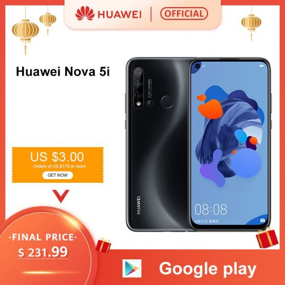 Original Huawei Nova 5i 6GB 8GB 128GB Smartphone 24MP Cameras 24MP Front Camera 6.4'' Full Screen Kirin 710F Android 9