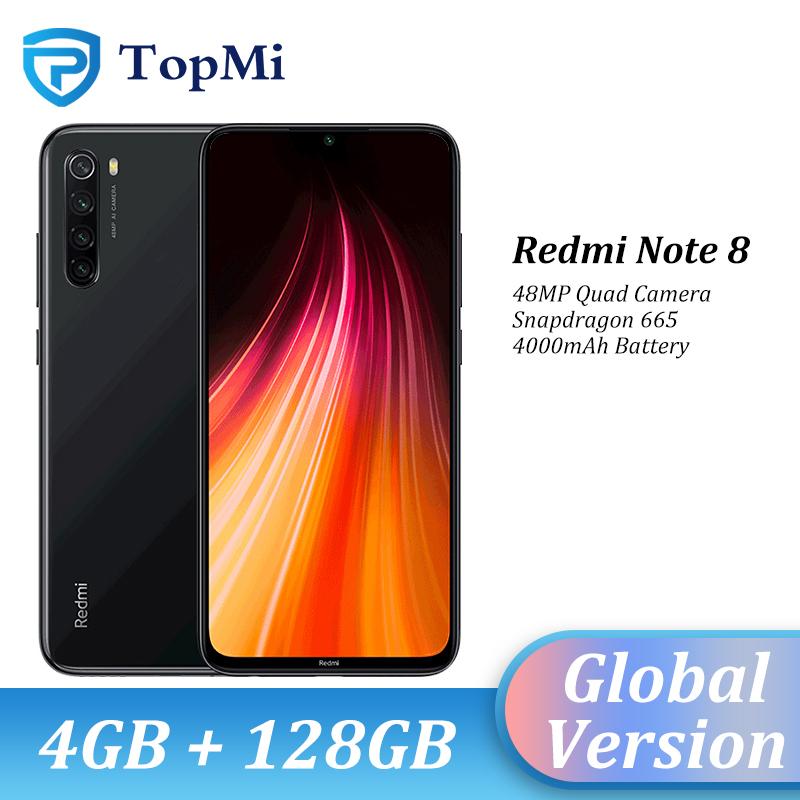 "In stock!Global Version Xiaomi Redmi Note 8 4GB RAM 128GB ROM Smartphone 48MP Quad Camera Snapdragon 665 6.3"" FHD+ Cellphone"