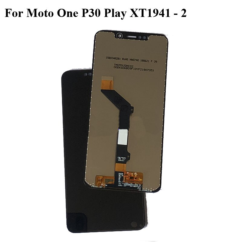Black LCD+TP For Moto One P30 Play XT1941 - 2 LCD Display with Touch Screen