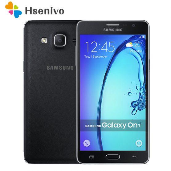 Original Samsung Galaxy On7 G6000 Unlocked Mobile Phone 5.5'' 8GB ROM 1.5 RAM 13MP Camera Dual sim card Smartphone refurbished